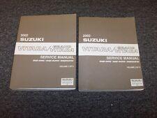 2002 Suzuki Vitara SUV Workshop Shop Service Repair Manual Set JLX JLS 2.0L V6