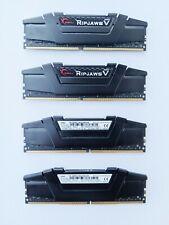 G.Skill Ripjaws V 64GB (16GBx4) DDR4-3200 PC4-25600 RAM CL16-18-18-38 1.35V XMP2