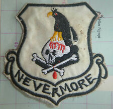 THE RAVEN - Patch - NEVERMORE - USAF 56th SPECIAL OPERATIONS, Vietnam War - 5012
