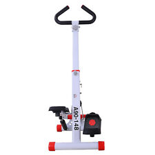HOMCOM Stepper Fitness Professionale con Manubrio e Display Pieghevole