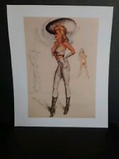 Cowgirl Western Vintage Style Pin-Up Girl Poster - #4,  10 x 12
