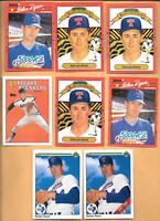 1990 UPPER DECK #734 Nolan Ryan Error & Three 1990 Nolan Ryan Errors  + 4 Cards