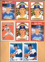 1990 U.D. #734 Nolan Ryan Error & 1990 DONRUSS Nolan Ryan Errors 3 + 4 Cards