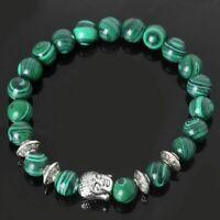 la pierre naturelle des perles le yoga avec bracelet de malachite même bouddha