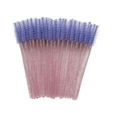 20x Disposable Purple Eyelash Makeup Brush Crystal Pink Handle Mascara Wands