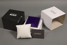 BRAND NEW & 100% AUTHENTIC MOVADO BOLD WATCH GIFT BOX W/ MANUAL & WARRANTY CARD