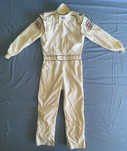 BELL Racing Coverall 1-Piece Suit White M/L Medium Large