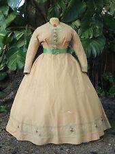 ORIGINAL CIVIL WAR ERA DAY DRESS c.1860s VICTORIAN