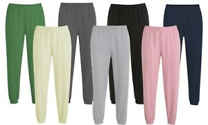 Women's Elasticated Jogging Bottoms Marl Sweatpants Casual Full-Length Bottoms