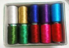 LOT of BEAUTIFUL 150/2 Denier Viscose Rayon Thread Yarn Hand Machine Embroidery