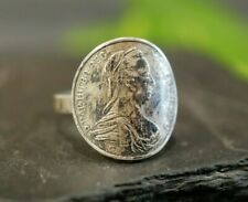 Trachtiger 925 Silber Ring Replik Maria Theresia Taler Österreich Habsburg