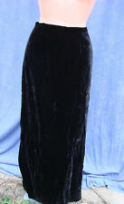 Vintage 60s 70s Black Velvet Skirt Long Evening Lined S