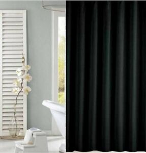 Black shower curtain 180cm new free shipping
