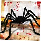 8FT Halloween Giant Spider Decorations, 96 IN Halloween Huge Plush Toy