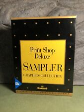 """The Print Shop Deluxe   Sampler   Graphics   For IBM/Tandy   1992   3.5"""" Disk"""