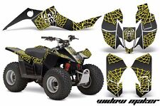 AMR Racing Suzuki LTZ 50 Quad Graphics Kit ATV Sticker Decals 06-09 WIDOW YELLOW