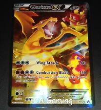 Charizard EX XY121 Red-Blue Black Star FULL ART Promo EX-NEAR MINT Pokemon Card