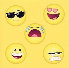 10 Emoji Faces - Large Stickers - Party Favors - Rewards