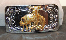 Rodeo Belt Buckle Chambers Belt Co USA (11414)