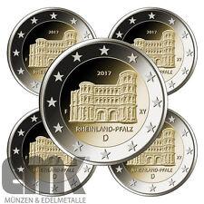 Deutschland - 5 x 2 Euro 2017 - Trier - Porta Nigra - Satz - Bankfrisch