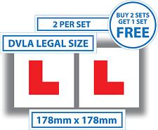 2 x Learner Driver L Plate Stickers Legal Size L Plates Car Window Bumper Vinyl