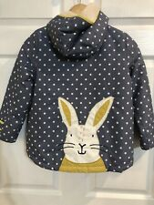 Girls Mini Boden Rabbit Coat Size 6-7 6 7 Fleece Lining