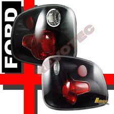 01-03 Ford F150 SVT Lightning Supercrew Flareside Pickup Black Tail lights