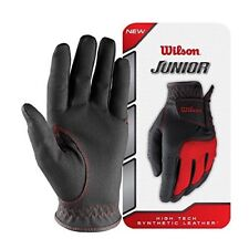 Wilson ALL WEATHER Synthetic Leather Palm, Mesh Top Junior Golf Glove Size M