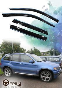 For BMW X5 E53 99-06 Chrome Trim Window Visor Guard Vent Deflector