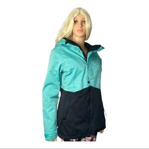 686 Women's Rumor Insulated  Ski Board Snow Jacket Teal Black Medium *