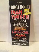 Iron Maiden Concert Ticket Stub 6-18-2005 Spai - Rare