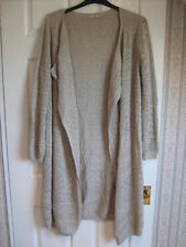 Size 16 biscuit loose fitting longline cardigan, crochet/knit, long sleeve by TU