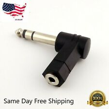 "3.5mm Stereo Female to 1/4"" Stereo Male Right Angle Audio Adapter US Seller"