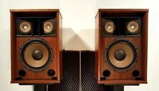 """Pair of Vintage Sansui SP-2500 Speakers, 3-Way 5 Driver 12"""" 8 Ohms 80W, NICE"""