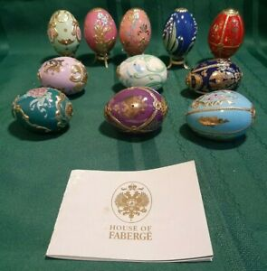 House Of Faberge Imperial Egg Collection Franklin Mint 11 Eggs - 1 Broken
