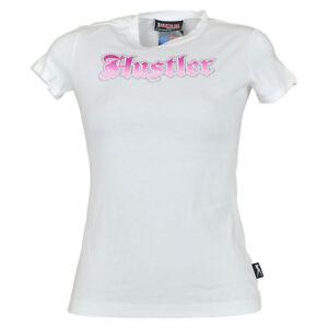 Hustler Clothing Brand Gradient Petite Womens Tshirt Tee White Novelty