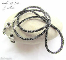 ✫BLACK LEATHER & NUTS✫ MENS EYEGLASS GLASSES SPECTACLES CORD HOLDER CHAIN