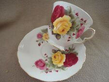 Queen Ann Bone China England Cup & Saucer Roses - Vintage