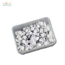 100 Kabelschellen weiß, für Kabel max Ø4mm, Kabelschelle Nagelschellen Nagelclip