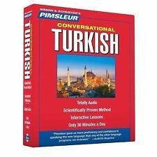 PIMSLEUR Learn to Speak TURKISH Language 8 CDs NEW!!