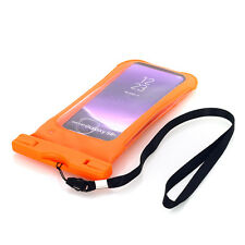Waterproof Case Aicase Universal Dry Bag Armband FR Rafting Kayaking Swimming for Samsung Galaxy S8 Orange