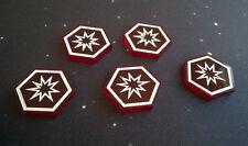 X-Wing Miniaturas compatible, Acrílico crítica hit tokens X 5