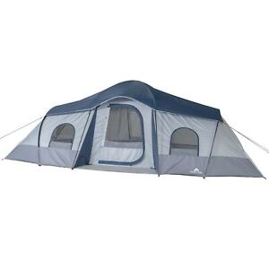 10 Person Camping Tent 3 Room Cabin Family Dome Portable Outdoor Shelter Rainfly