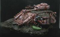Warhammer 40k Terrain Scenery Wrecked Half Buried Predator Chaos Space Marines