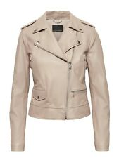 NWD Banana Republic Leather Moto Jacket, Beige Taupe SIZE XS       #425039 N0915