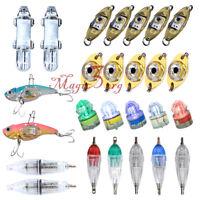 LED Fishing Squid Light Deep Drop Sea Underwater Strobe Flashing Lamp Bait Lure