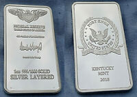 Fort Knox Silver Bar US President Donald Trump Signature US Mint Bullion Ingot