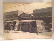 "Large Vintage 18""x24"" Photograph Asbury Park Bus on Main St to Ridge"