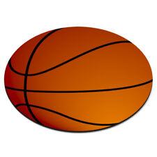 BASKETBALL BALL CIRCULAR PC COMPUTER MOUSE MAT PAD - Sport Funny Circle Orange