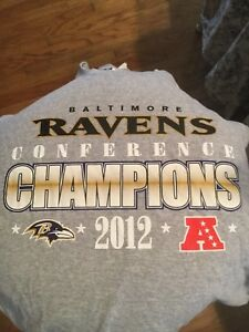 BALTIMORE RAVENS Conference champions 2012 mens SZ.XL.with tin NEW!
